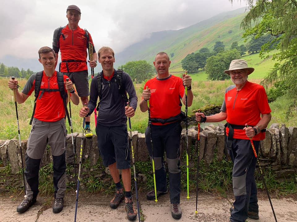 Patterdale Mountain Rescue Team learn Nordic walking skills!