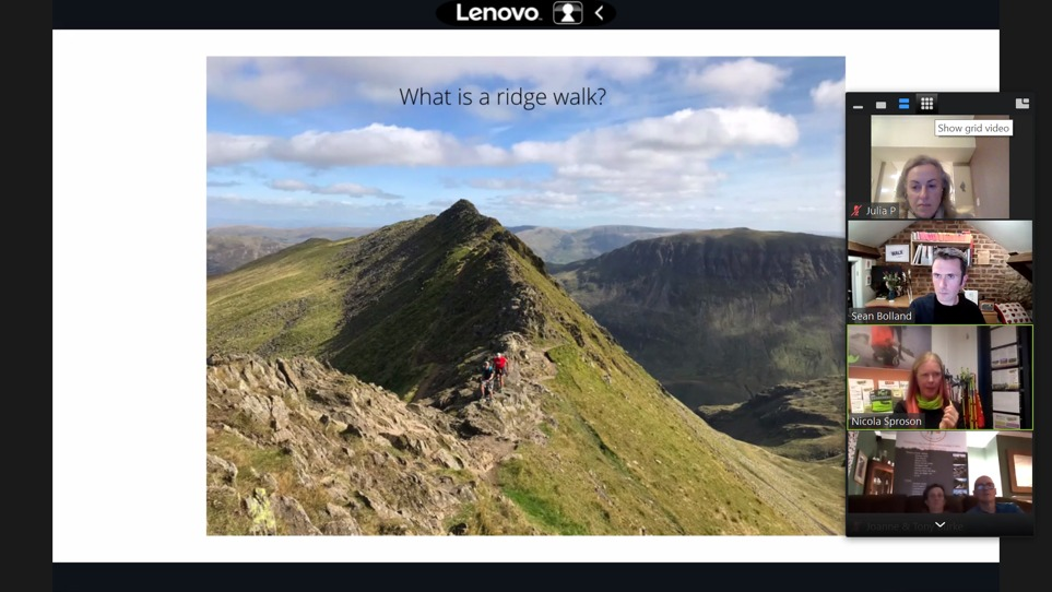 First Virtual Walk, Helvellyn via Striding Edge, a huge success!