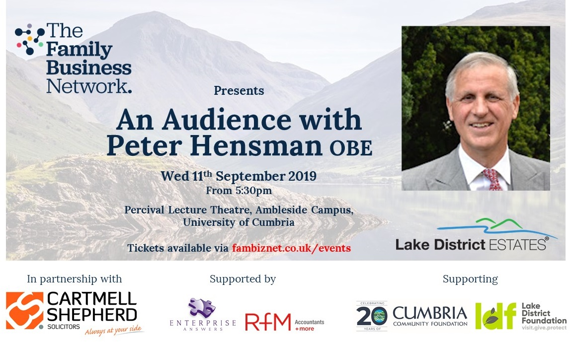 Family Business Network announces exclusive insight event with Chairman of prominent family-owned Cumbrian business.