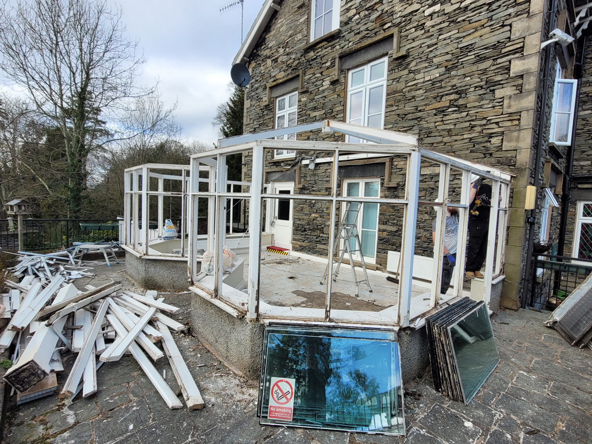 Recycling 45 year old conservatory